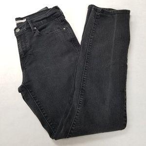 LEVI'S 505 Straight Leg Black Jeans 28